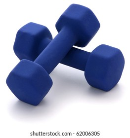 Dumbbell Weights isolated on white