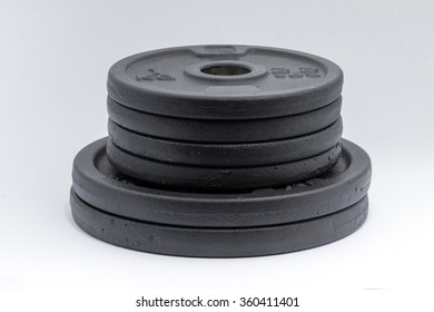 Dumbbells isolated on a white background.