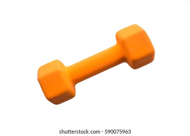 dumbbells with white background