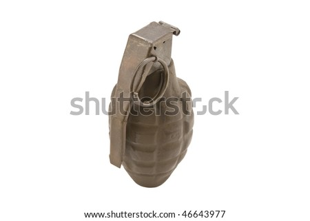 Dummy Hand Grenade Isolated On White Stock Photo (Edit Now
