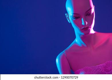 Dummy. Plastic woman. Fashion. Style. Naked mannequin. Woman mannequin Fashion show. Tailoring. Fashion designer. Studio. Pink mannequin.