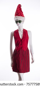 dummy with a red dress