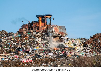 The dump and the bulldozer