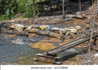 Dump and slurry of small time gold miners