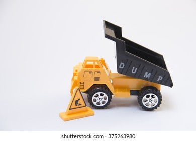 dump truck car toy Abstract background