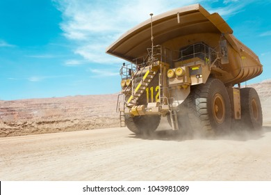 Dump truck at a copper mine in Latin America