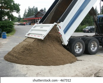 Dump Truck dropping load