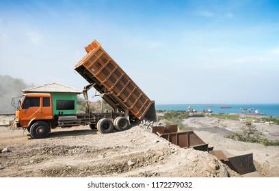 Dump Truck Unloading Process