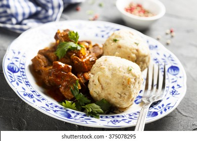Dumplings with beef stew