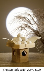 The Dumplings Of Greeting Moon And A Full Moon