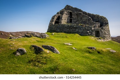Dun Carloway broch, Isle of Lewis, Western Isles, Outer Hebrides, Scotland,