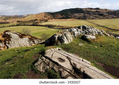 Dunadd, an ancient sacred site of the Gaels in the West of Scotland.