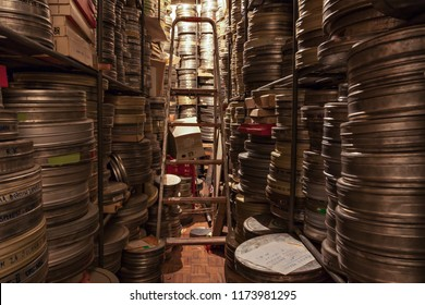 Dunav film arhcive, Belgrade Serbia - November 16, 2007 - Films were stored in the archive in famous film academy Dunav film for documentary movies, does not exist anymore