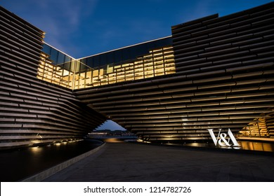 Dundee, Angus, Scotland. October 27th 2018. V&A centre designed by Kengo Kuma opened in September 2018