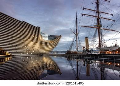 Dundee, Scotland - 27 DECEMBER-2018: exhibition opening Ocean Liners, Scottish Design