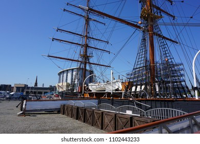 Dundee, Scotland - May 24, 2018: the Discovery sailing ship
