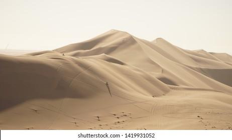 Dune 7 Sand Dune in the Namib Desert near Walvis Bay, Namibia.