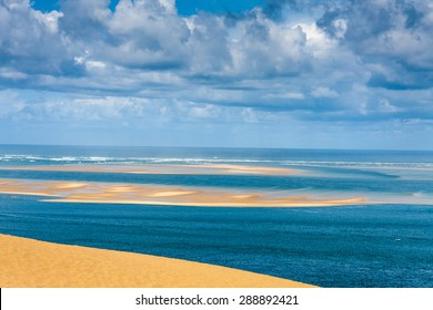 Dune du Pilat at 114 Metres the highest sand dune in Europe near Arcachon Gironde France Aquitaine