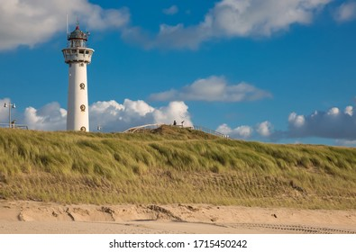 Dune landscape with lighthouse in Egmond aan Zee