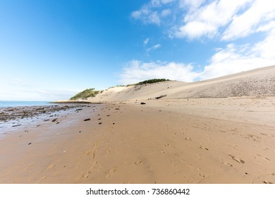 Dune of Pyla, the beach (Arcachon Bay, France),