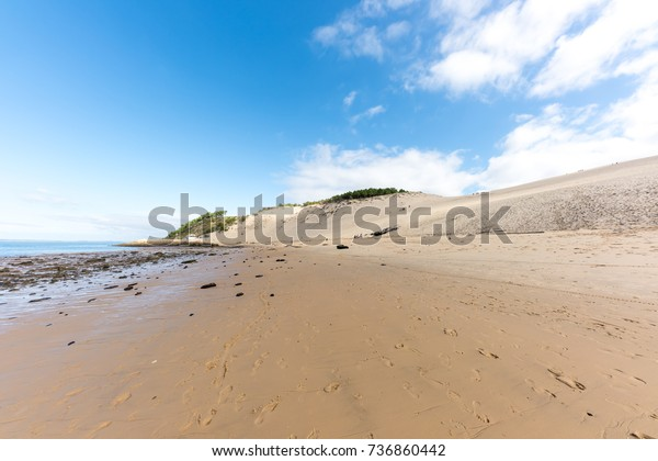 Dune Pyla Beach Arcachon Bay France Stock Photo Edit Now 736860442