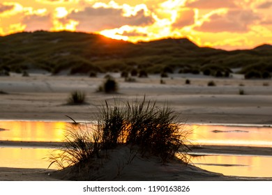 Dune in sunset on Amrum