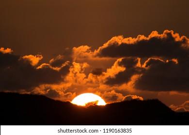 Dune in sunset on Amrum