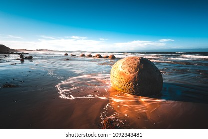 Dunedin Boulders in sunset