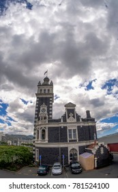 Dunedin, New Zealand - December 18th, 2017: Dunedin railway station in Dunedin on New Zealand's South Island, designed by George Troup. Completed in 1906.