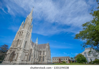 Dunedin , New Zealand, Feb 10th, 2019: The First Church of Otago, Dunedin, South Island, New Zealand. Founded in 1848