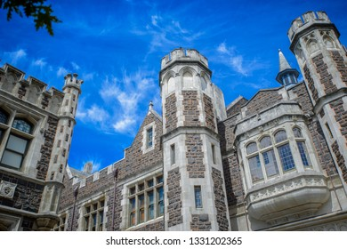Dunedin , New Zealand, Feb 10th, 2019: University of Otago, Registry Building, also known as the Clocktower Building