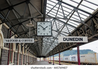 Dunedin,New Zealand - May 2,2016 : Dunedin Railway Station which is located at south island of New Zealand.