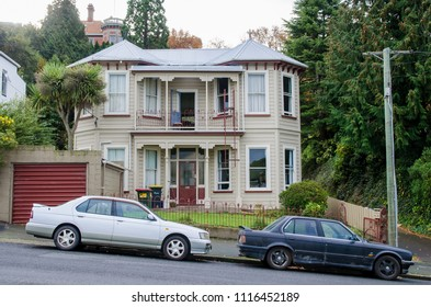 Dunedin,New Zealand - May 2,2016 : Residential Architectural Styles in the city of Dunedin in New Zealand.