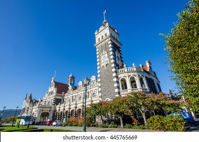 Dunedin,New Zealand - May 3,2016 : Dunedin Railway Station which is located at south island of New Zealand.