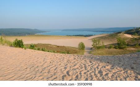 Dunes and bay - Sleeping bear dunes, Michigan