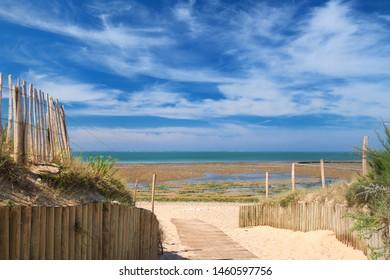 Dunes and Beach in Saint Marie en Re on island Ile de Re