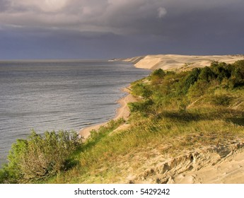 Dunes of Curonian Spit. Russia. Kaliningrad reg.