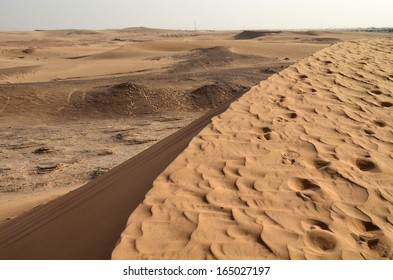 The dunes in the desert, Dubai, United Arab Emirates