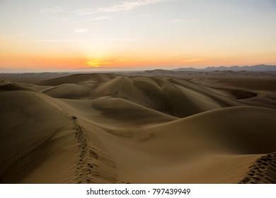 Dunes desert, sunset. Iran