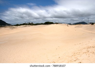 Dunes in Ingleses beach, city of Florianopolis, Santa Catarina State, south area of Brazil.