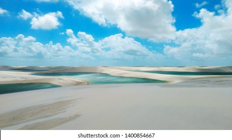 dunes and lagoons in Lençois Maranhenses desert