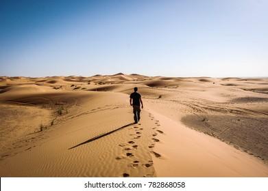 Dunes in Merzouga. Sahara desert