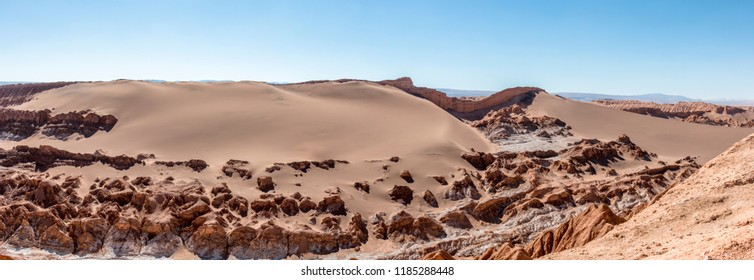 Dunes of Moon Valley in Atacama Desert, Chile