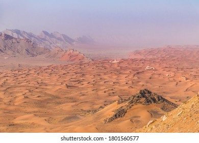 Dunes and Mountains: Fossil Rock in Sharjah, UAE.
