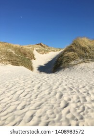 Dunes on the beach on the island Amrum (Germany). Amrum is part of the North Frisian Islands.