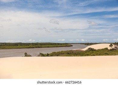 Dunes at Parnaiba River, north of Brazil, locations known as Delta of Parnaiba