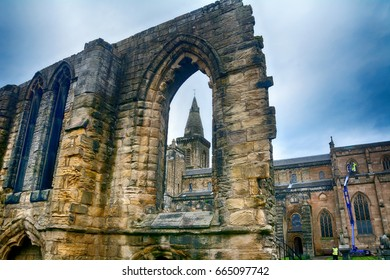 DUNFERMLINE, SCOTLAND - JUNE 4: Abbey in 4 June, 2017 at Dunfermline. Dunfermline has a lovely medieval abbey in the city.