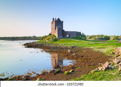 Dunguaire castle at sunset, Co. Galway, Ireland