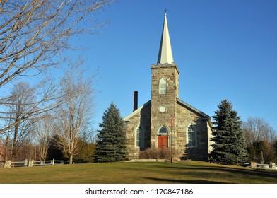 DUNHAM QUEBEC CANADA 11 02 2012: All Saints Anglican Church  Parish of Dunham