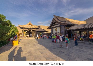 Dunhuang, China - August 06, 2014: Inside the Crescent Lake Oasis in Dunhuang, China